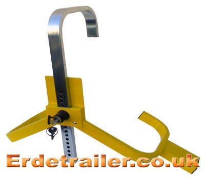 Erde jockey wheel clamp in place