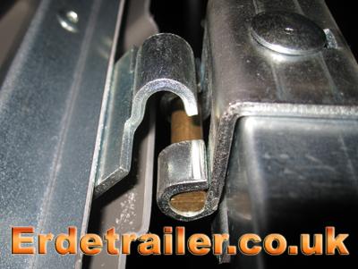 Hook the hard-top hinge together