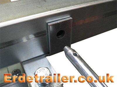 Erde 143 tipping bracket pin