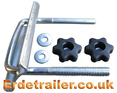 Use this U-bolt to attach the cycle carrier