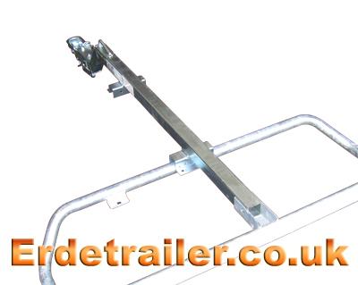 Attach the drawbar to the axle.