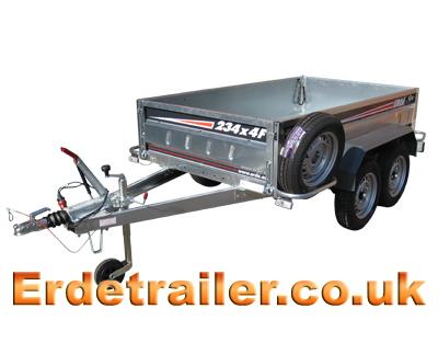 Erde 234x4f braked trailer
