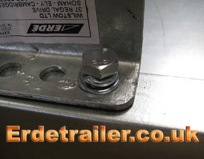 Axle bolt with spring washer